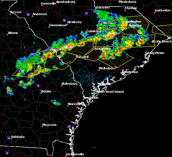 Radar Image for Severe Thunderstorms near Williston, SC at 6/20/2019 5:33 PM EDT