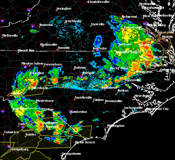 Radar Image for Severe Thunderstorms near Norwood, NC at 6/20/2019 5:32 PM EDT