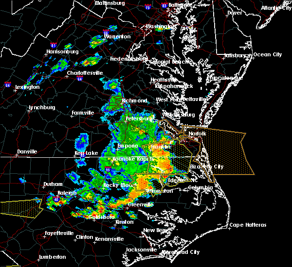 Radar Image for Severe Thunderstorms near Virginia Beach, VA at 6/20/2019 5:32 PM EDT