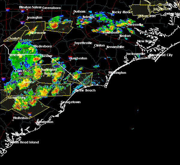 Radar Image for Severe Thunderstorms near Lake Waccamaw, NC at 6/20/2019 5:35 PM EDT