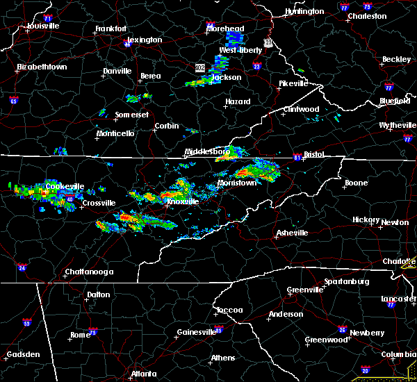 Radar Image for Severe Thunderstorms near Knoxville, TN at 6/20/2019 5:37 PM EDT
