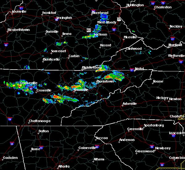Radar Image for Severe Thunderstorms near Rogersville, TN at 6/20/2019 5:37 PM EDT