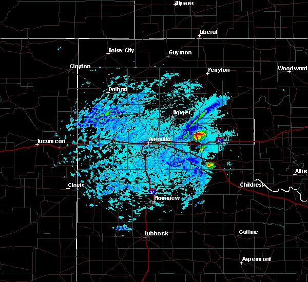 Radar Image for Severe Thunderstorms near Lefors, TX at 6/20/2019 4:47 PM CDT