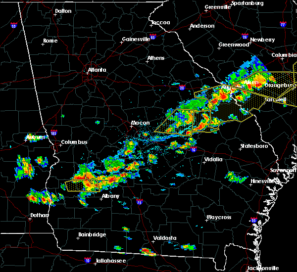 Radar Image for Severe Thunderstorms near Fitzgerald, GA at 6/20/2019 5:48 PM EDT