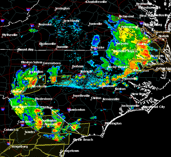 Radar Image for Severe Thunderstorms near Pinehurst, NC at 6/20/2019 5:55 PM EDT