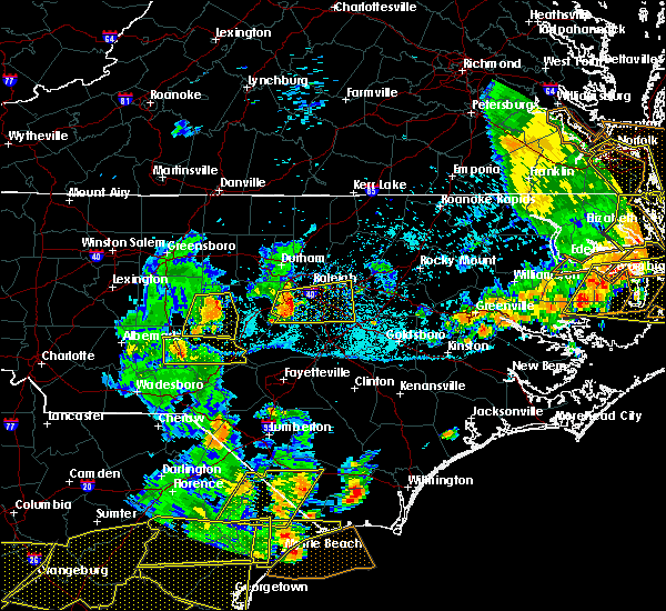 Radar Image for Severe Thunderstorms near Smithfield, NC at 6/20/2019 5:59 PM EDT