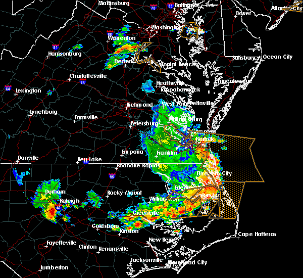 Radar Image for Severe Thunderstorms near Virginia Beach, VA at 6/20/2019 6:03 PM EDT