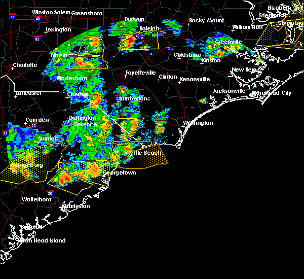 Radar Image for Severe Thunderstorms near Myrtle Beach, SC at 6/20/2019 6:05 PM EDT