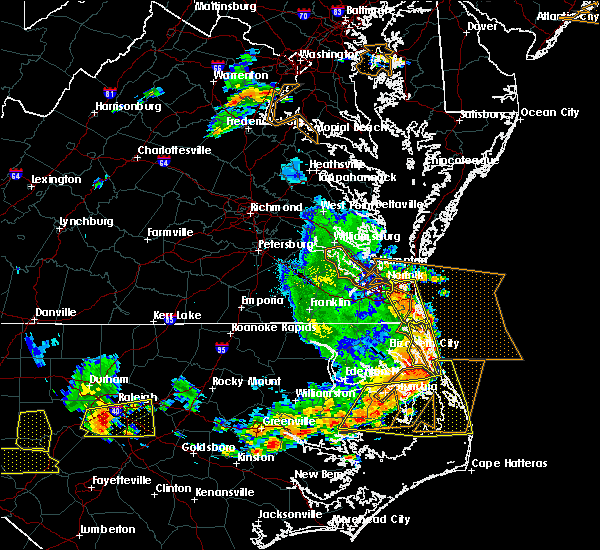 Radar Image for Severe Thunderstorms near Virginia Beach, VA at 6/20/2019 6:07 PM EDT