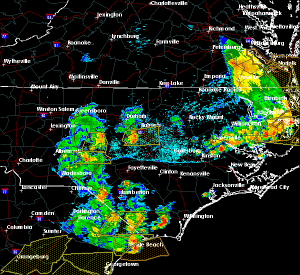Radar Image for Severe Thunderstorms near Bennett, NC at 6/20/2019 6:08 PM EDT