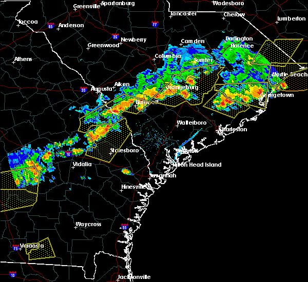 Radar Image for Severe Thunderstorms near Allendale, SC at 6/20/2019 6:09 PM EDT