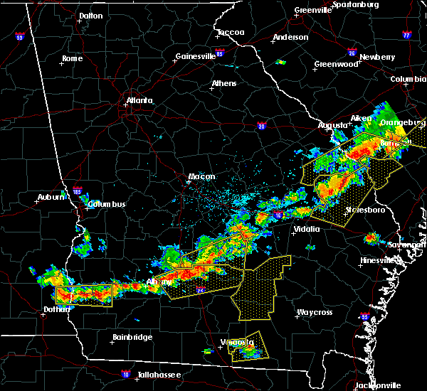 Radar Image for Severe Thunderstorms near Chauncey, GA at 6/20/2019 6:10 PM EDT