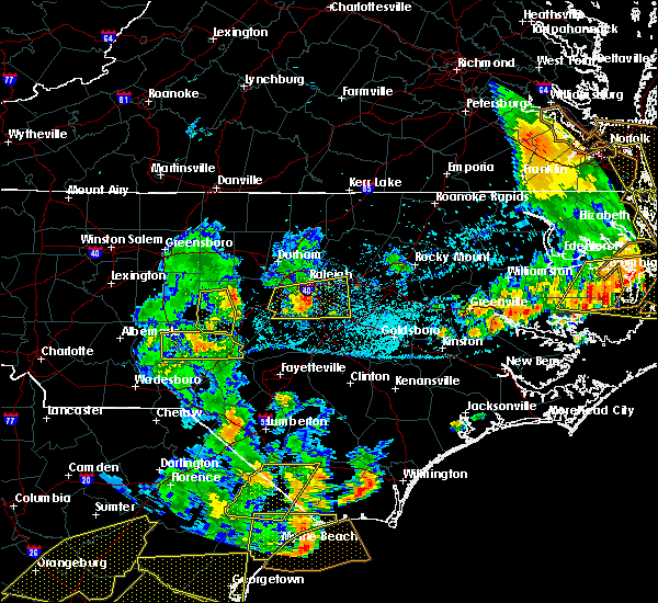 Radar Image for Severe Thunderstorms near Pinehurst, NC at 6/20/2019 6:13 PM EDT