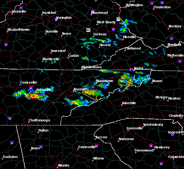 Radar Image for Severe Thunderstorms near Unicoi, TN at 6/20/2019 6:20 PM EDT