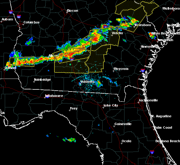 Radar Image for Severe Thunderstorms near Moultrie, GA at 6/20/2019 6:23 PM EDT