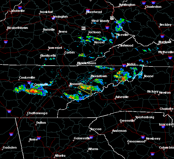 Radar Image for Severe Thunderstorms near Elk Park, NC at 6/20/2019 6:25 PM EDT