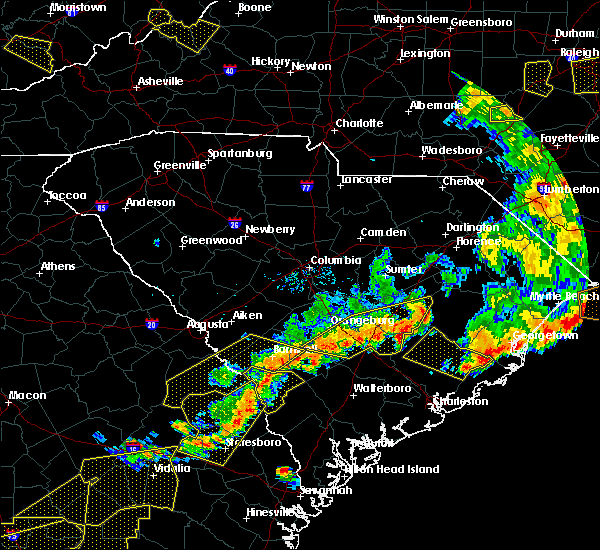 Radar Image for Severe Thunderstorms near Cameron, SC at 6/20/2019 6:27 PM EDT