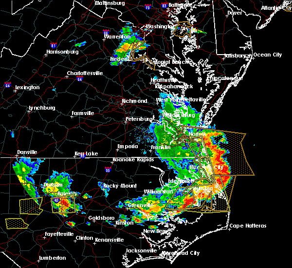 Radar Image for Severe Thunderstorms near Virginia Beach, VA at 6/20/2019 6:28 PM EDT