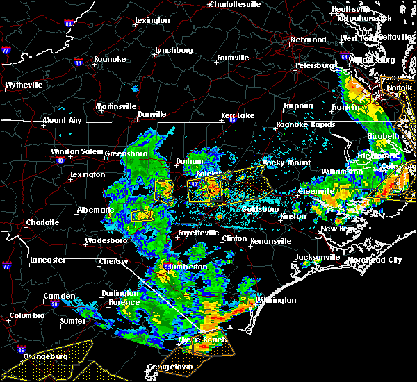 Radar Image for Severe Thunderstorms near Wilson, NC at 6/20/2019 6:30 PM EDT