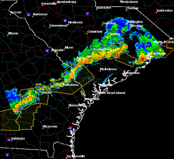 Radar Image for Severe Thunderstorms near Moncks Corner, SC at 6/20/2019 6:38 PM EDT