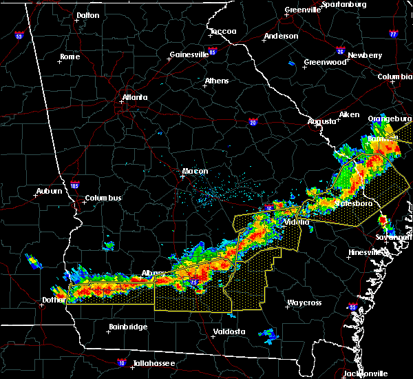 Radar Image for Severe Thunderstorms near Mount Vernon, GA at 6/20/2019 6:39 PM EDT