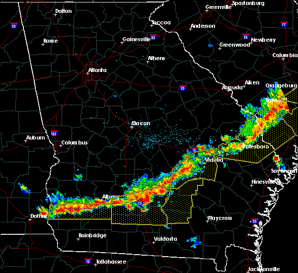 Radar Image for Severe Thunderstorms near Mount Vernon, GA at 6/20/2019 6:46 PM EDT