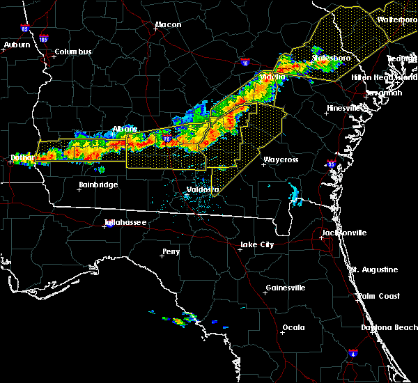 Radar Image for Severe Thunderstorms near Moultrie, GA at 6/20/2019 7:03 PM EDT