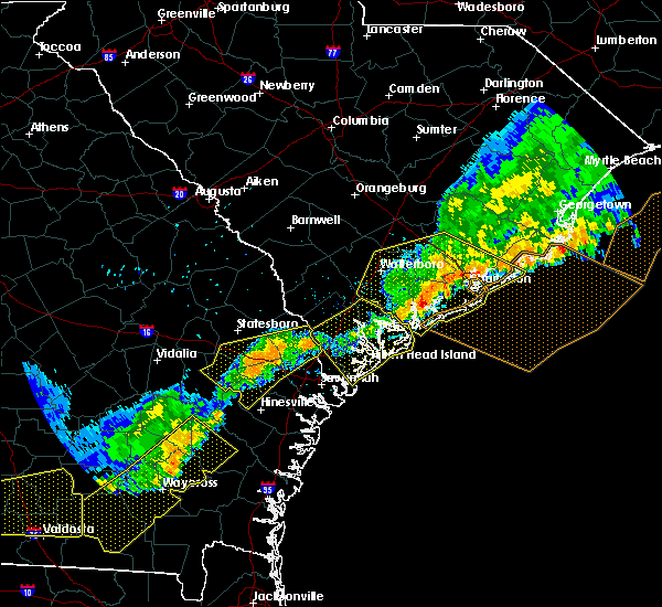 Radar Image for Severe Thunderstorms near Ravenel, SC at 6/20/2019 8:03 PM EDT