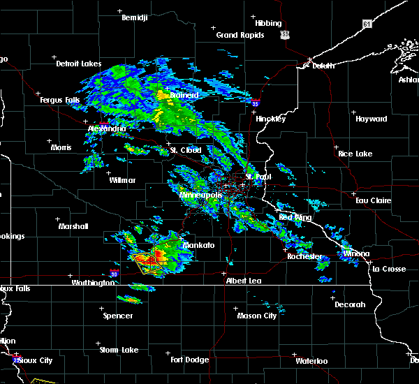 Radar Image for Severe Thunderstorms near Fairmont, MN at 6/20/2019 7:45 PM CDT