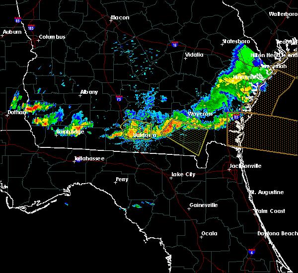 Radar Image for Severe Thunderstorms near Homerville, GA at 6/20/2019 8:53 PM EDT