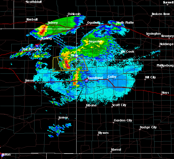 Radar Image for Severe Thunderstorms near St. Francis, KS at 6/20/2019 7:40 PM MDT