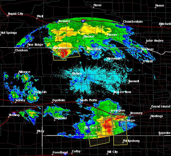 Radar Image for Severe Thunderstorms near Kilgore, NE at 6/20/2019 10:36 PM MDT