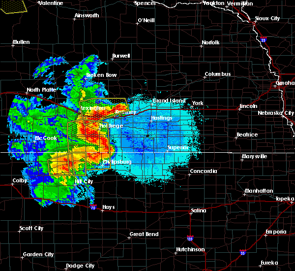 Radar Image for Severe Thunderstorms near Funk, NE at 6/21/2019 12:12 AM CDT