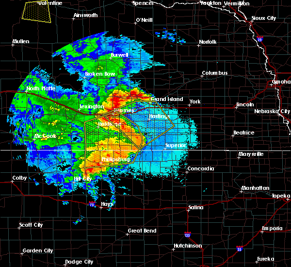 Radar Image for Severe Thunderstorms near Red Cloud, NE at 6/21/2019 12:53 AM CDT