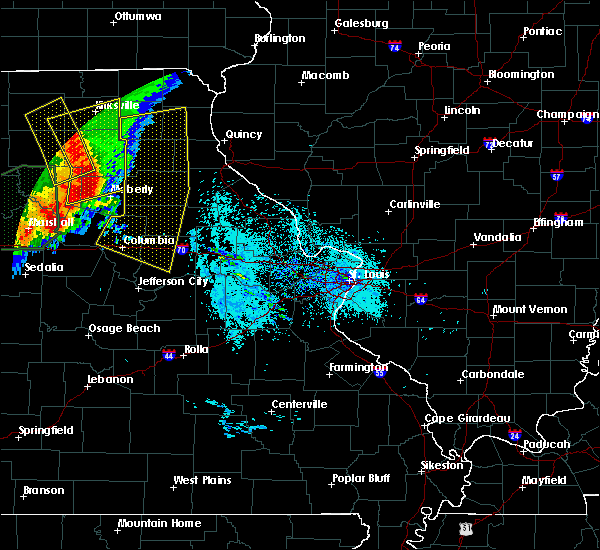Radar Image for Severe Thunderstorms near Plevna, MO at 6/21/2019 8:54 AM CDT