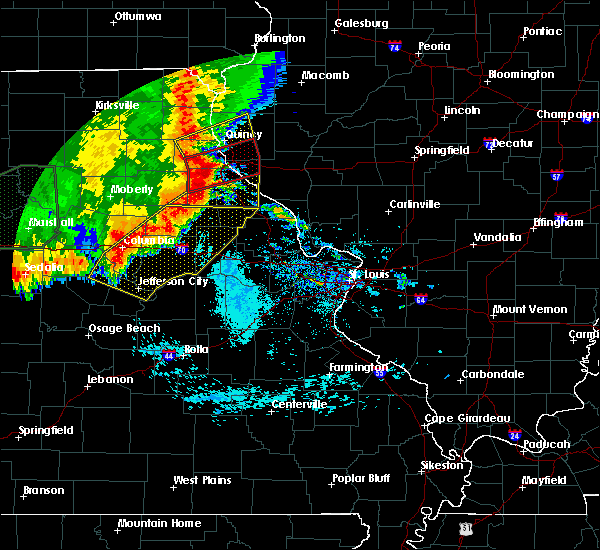 Radar Image for Severe Thunderstorms near Fulton, MO at 6/21/2019 10:09 AM CDT