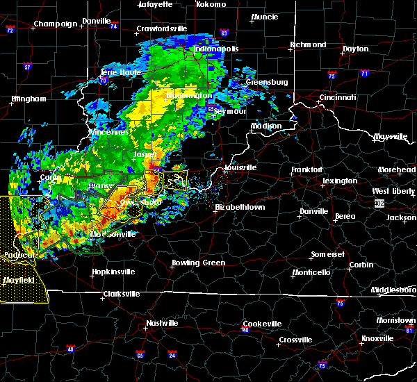 Radar Image for Severe Thunderstorms near Leavenworth, IN at 6/21/2019 6:31 PM EDT
