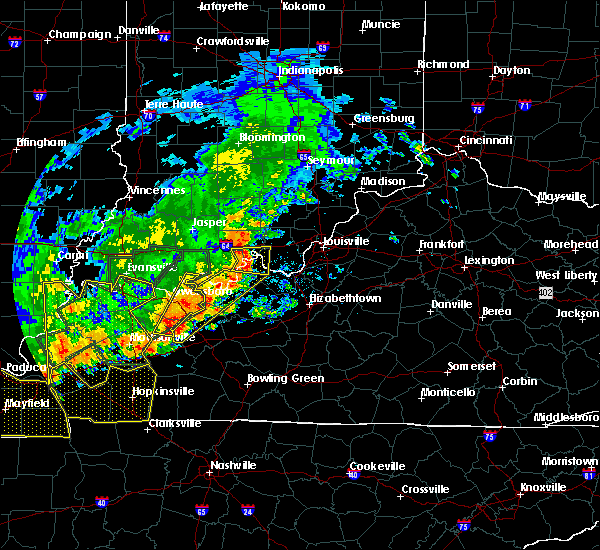 Radar Image for Severe Thunderstorms near Fordsville, KY at 6/21/2019 5:55 PM CDT