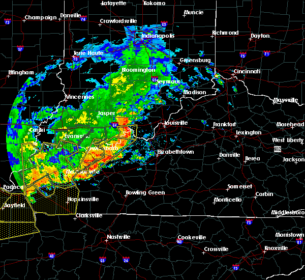 Radar Image for Severe Thunderstorms near Doe Valley, KY at 6/21/2019 6:58 PM EDT