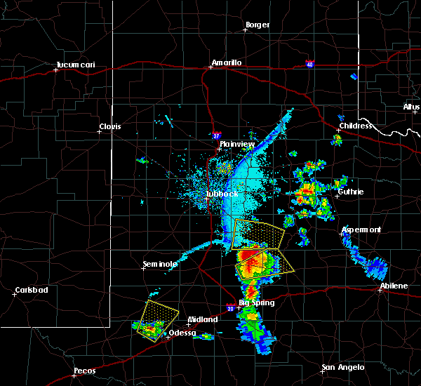 Radar Image for Severe Thunderstorms near Post, TX at 6/21/2019 8:08 PM CDT