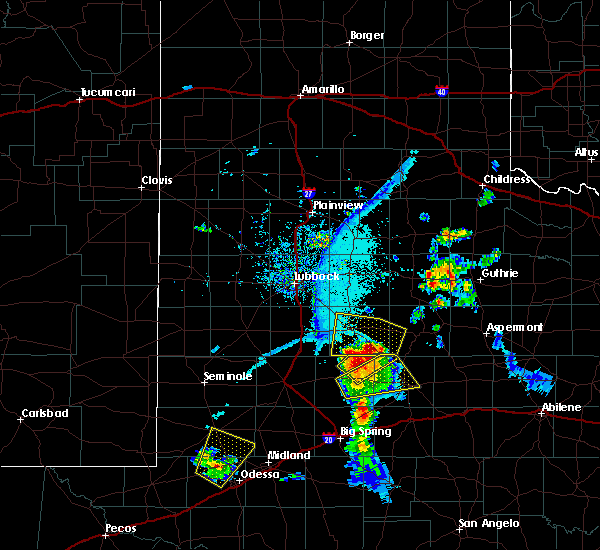 Radar Image for Severe Thunderstorms near Post, TX at 6/21/2019 8:18 PM CDT