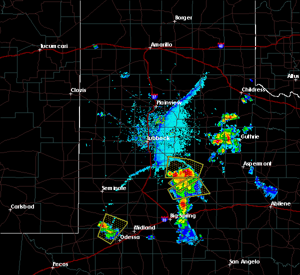 Radar Image for Severe Thunderstorms near Post, TX at 6/21/2019 8:22 PM CDT