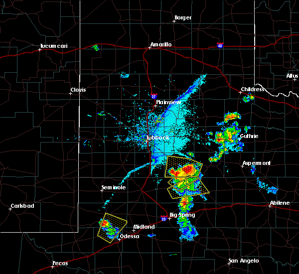 Radar Image for Severe Thunderstorms near Post, TX at 6/21/2019 8:32 PM CDT