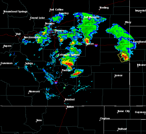 Radar Image for Severe Thunderstorms near Fowler, CO at 6/21/2019 8:01 PM MDT
