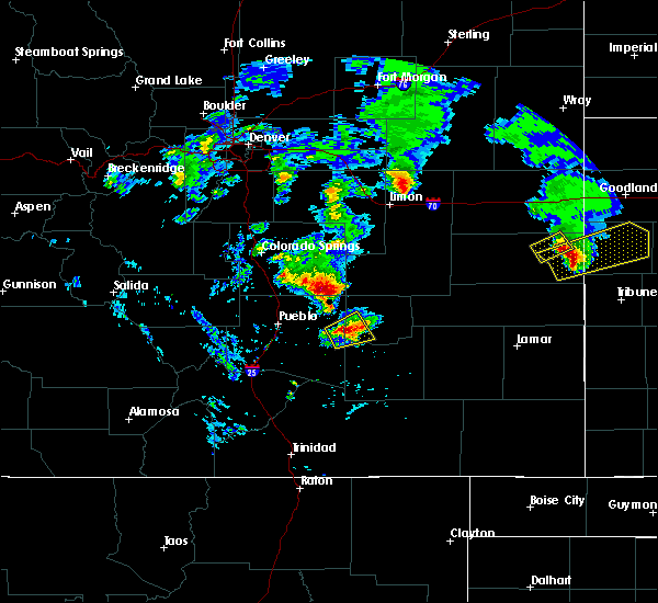 Radar Image for Severe Thunderstorms near Fowler, CO at 6/21/2019 8:08 PM MDT