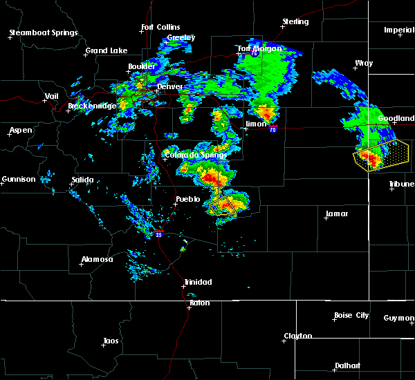 Radar Image for Severe Thunderstorms near Fowler, CO at 6/21/2019 8:20 PM MDT