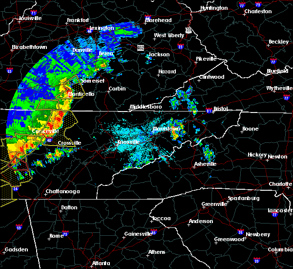 Radar Image for Severe Thunderstorms near Coalfield, TN at 6/21/2019 10:20 PM EDT