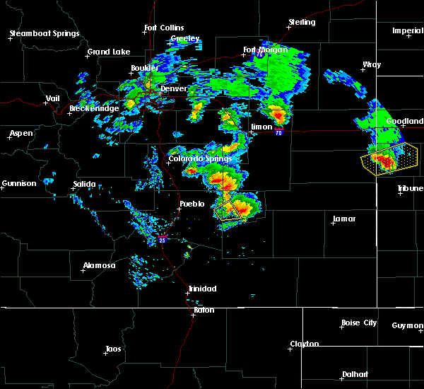 Radar Image for Severe Thunderstorms near Fowler, CO at 6/21/2019 8:25 PM MDT