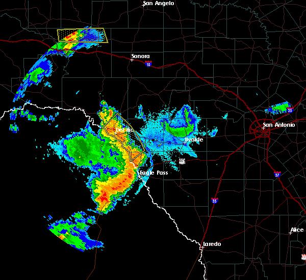 Radar Image for Severe Thunderstorms near Del Rio, TX at 6/21/2019 9:48 PM CDT