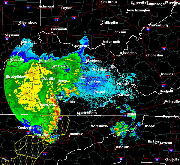Radar Image for Severe Thunderstorms near London, KY at 6/21/2019 10:58 PM EDT